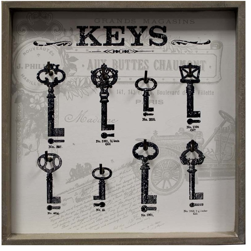 wieszak na klucze otwarty