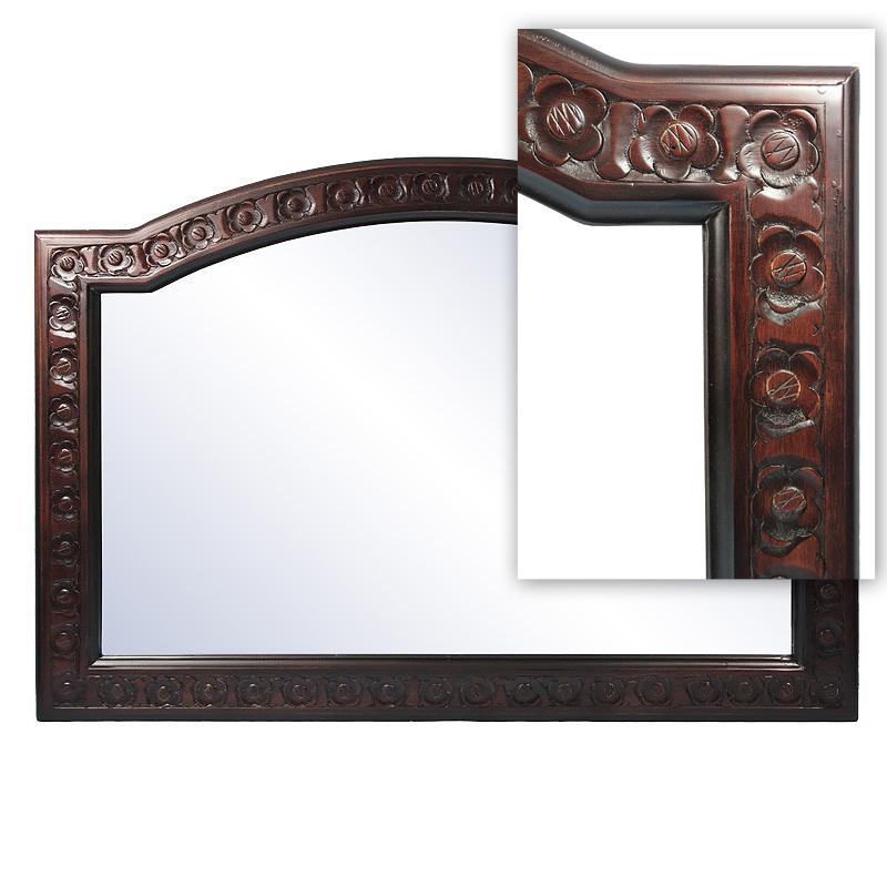Drewniane lustro klasyczne 70x100cm