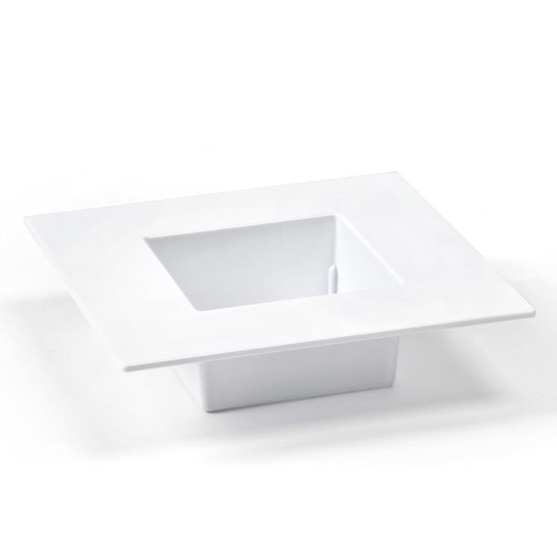 Doniczka Ikebana 19x19cm LAMELA biała