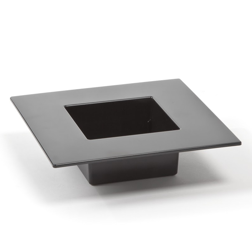 Doniczka Ikebana 19x19cm LAMELA czarna