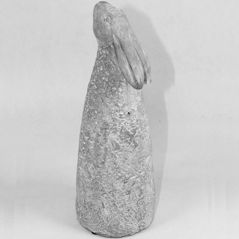 Figurka betonowa Królik wys.26cm x 9cm x 9cm szara