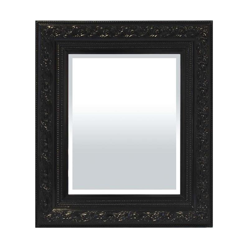 Lustro prostokątne 70x60x4cm rama czarna 12cm