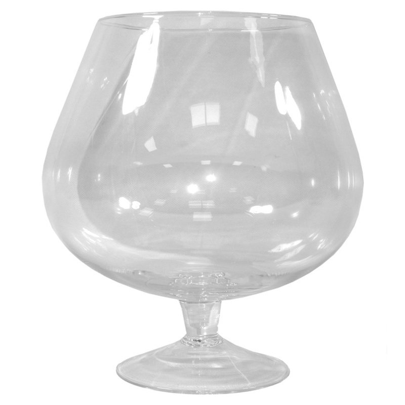 Kielich świecznik szkło