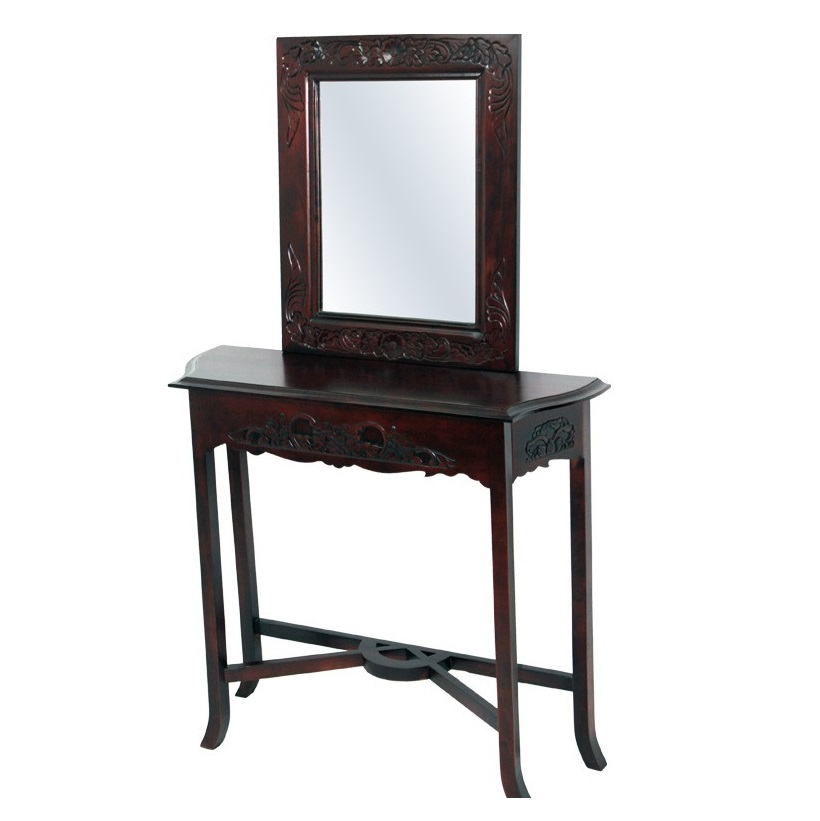 Stolik z lustrem 134cm x 83cm x 25cm