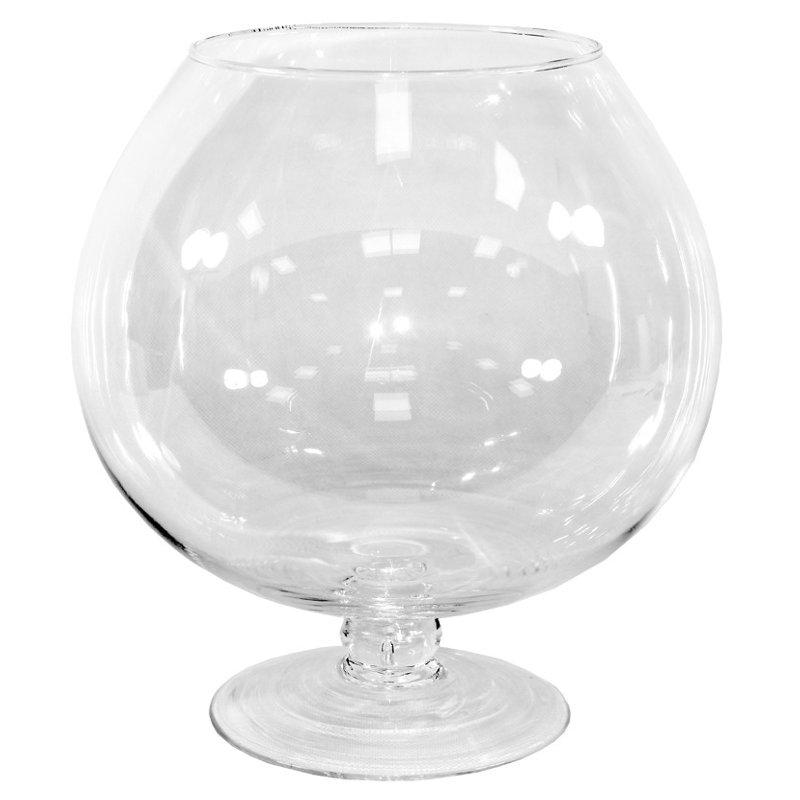 Kielich świecznik szkło wys. 30cm x 28cm x 28cm