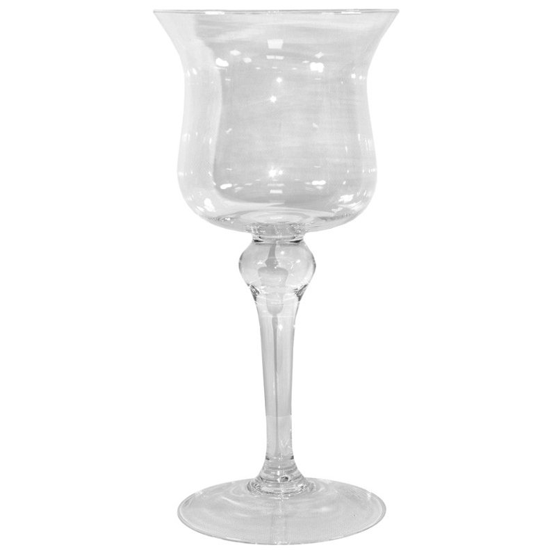 Kielich świecznik szkło wys. 34cm x 15,5cm
