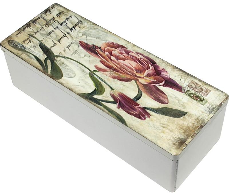 Skrzyneczka drewniana na herbatę 3 przegródki 101841