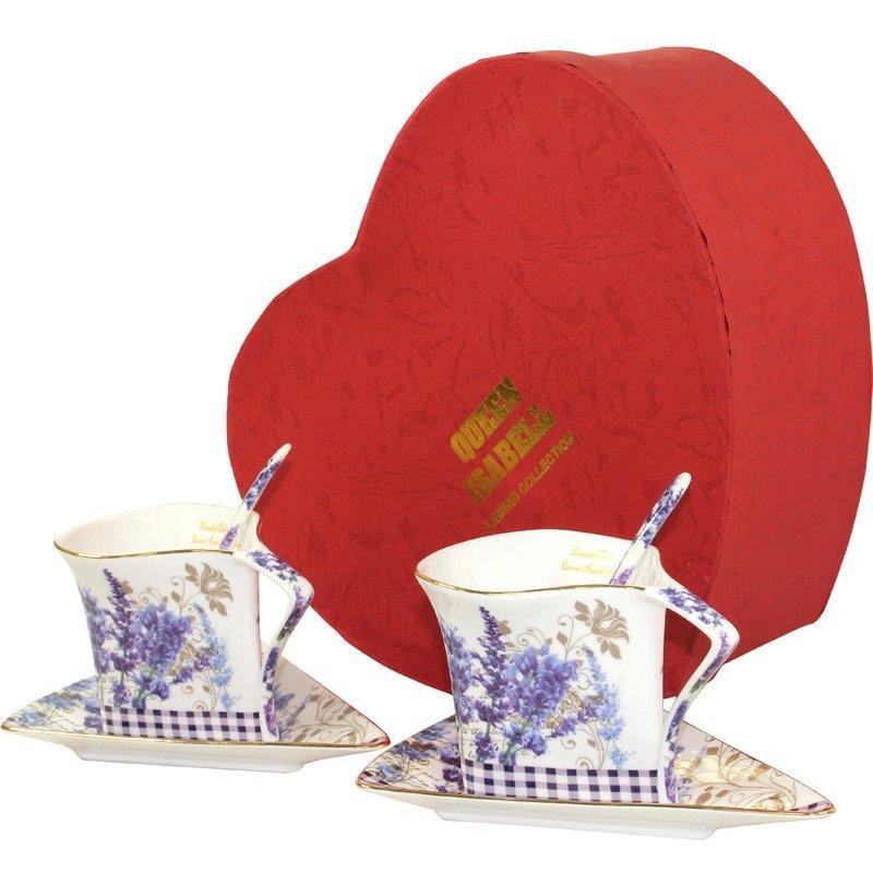 filiżanki ceramiczne z łyżeczkami