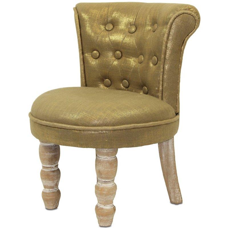 Fotel tapicerowany z egzotycznego drewna