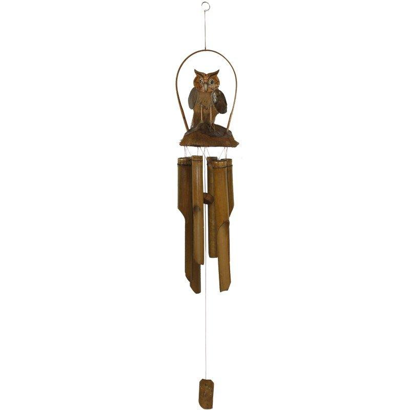 Dzwonek wietrzny z bambusa 118cm x 14cm x 14cm