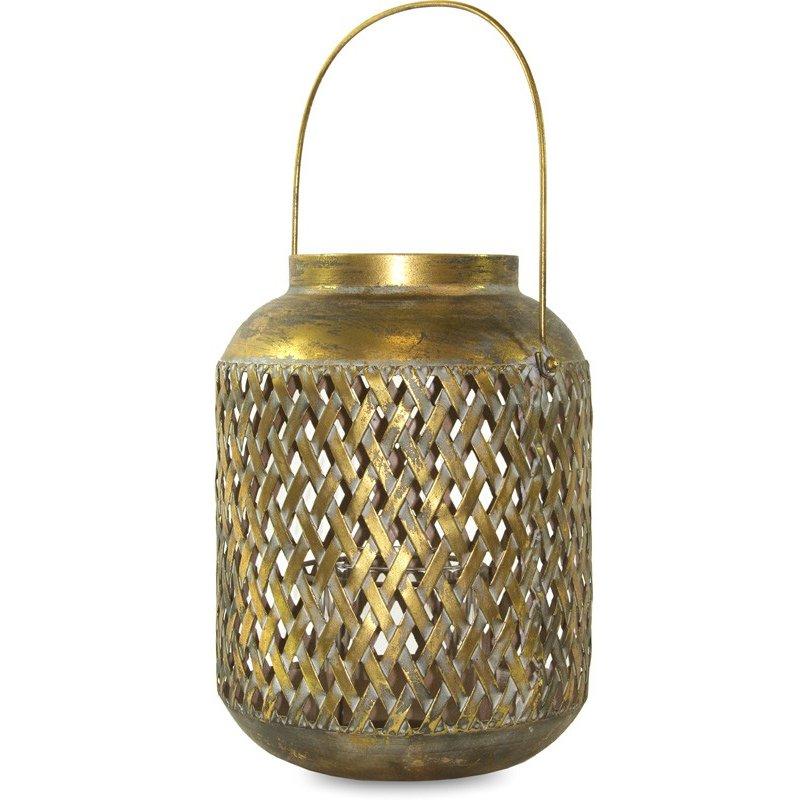 Lampion metalowy 30cm x 22cm x 22cm