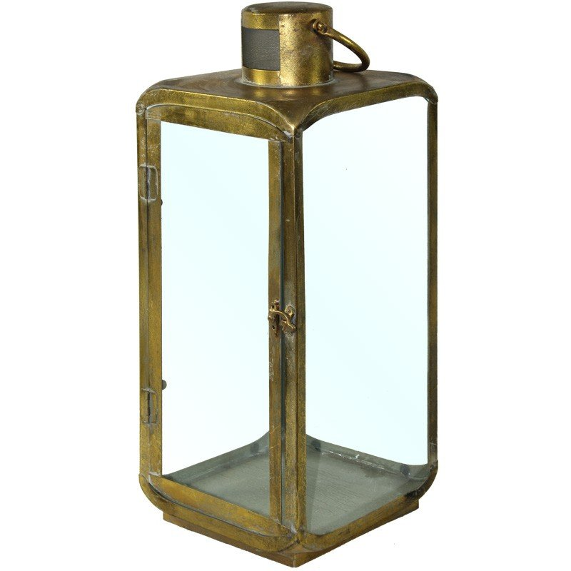 Lampion metalowy 50,5cm x 20cm x 20cm