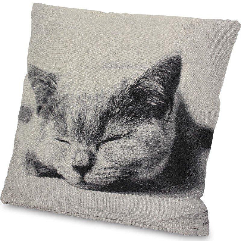 Poduszka ze zdjęciem śpiącego kota 46cm x 45cm