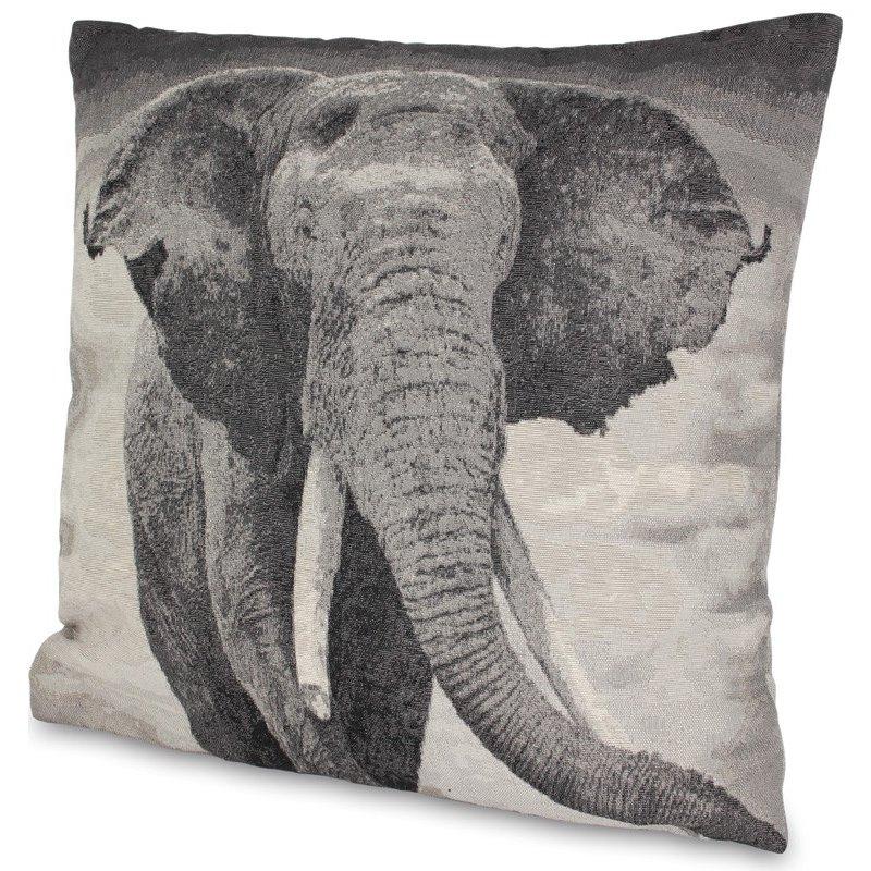 Poduszka ze zdjęciem słonia 46cm x 45cm