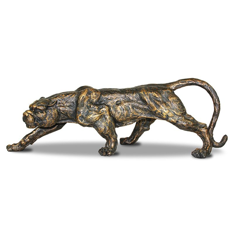 Figurka skradający się lampart 52cm x 19cm x 17,5cm