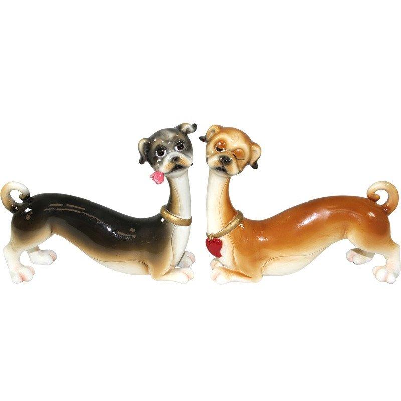 Figurka ceramiczna para psów 12cm x 15cm x 4,5cm