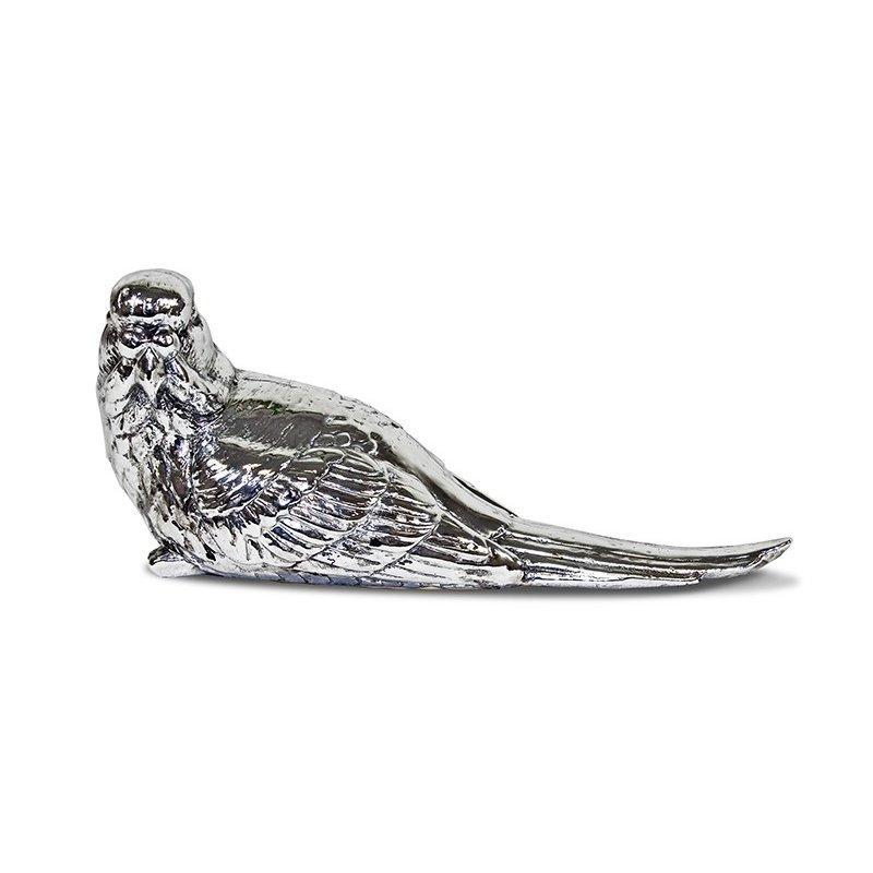 Figurka ptaszek srebrny 18,5cm x 8cm x 6,5cm
