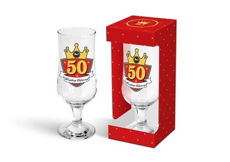 "Szklanka do piwa Gold 330 ml ""50"""